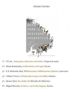 Guía para o descenso enerxético: libro de ensaio galego máis vendido en setembro de 2014